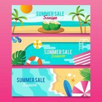 Sommer Banner Sammlung vektor