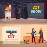Katzen zeigen Banner Vektor-Illustration vektor