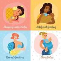 Mutterschaftssymbole setzen Vektorillustration vektor