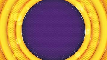 gelber Kreis mit funkelnder Eleganz vektor