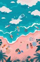 süße Sommeraktivität macht Spaß vektor