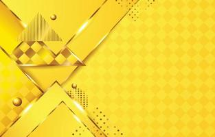 gelber Farbhintergrund mit Dreiecksform vektor