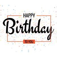 Grattis på födelsedagen. Härligt hälsningskortaffischdesign