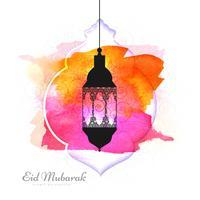Elegant Eid Mubarak färgglad bakgrunds vektor