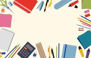 stationärer Hintergrund der Schule vektor