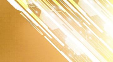 Hintergrund des goldenen Technologienetzwerks vektor