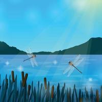 Insekten Libellen realistische Vektor-Illustration vektor