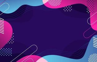 blauer rosa abstrakter flüssiger Hintergrund vektor
