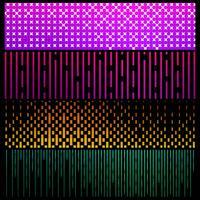 Geometrische colroful Musterfahnen stellten Vektor ein