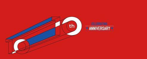 10 Jahre Jubiläumsfeier Design. RGB-Vektorillustration der 3d Farblinienkunst. vektor