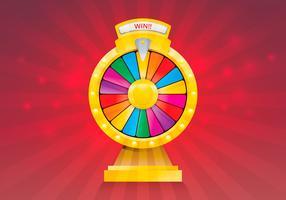 spinning hjul förmögenhet illustration vektor