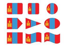 Mongol flagga vektor