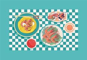 Köstliche Garnelen Küche Vektor