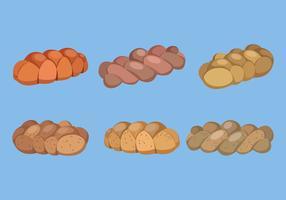 Challah Bröd Vector Collection