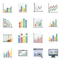 Dateninfografiken flach vektor