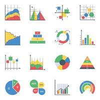 Geschäftsdiagramme können bearbeitet werden vektor