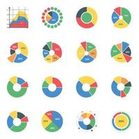 Kreisdiagramme können bearbeitet werden vektor