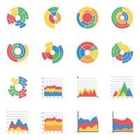 Sunburst Infografiken flach vektor