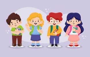 Gruppe fröhlicher Studenten vektor