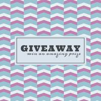 Giveaway Wettbewerb Vorlage mit einem Muster