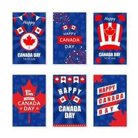 Kanada-Tagesgrußkartensammlung vektor