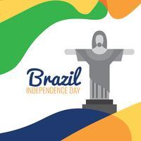 Christus der Erlöser zum Brasilien-Tag vektor