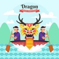 Drachenboot Festival Feier Design vektor