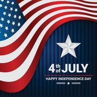 Glücklicher 4. Juli Flaggenhintergrund vektor