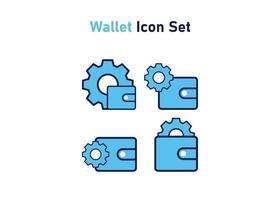 Icon-Set mit Brieftaschensymbol. Konzept der finanziellen Anpassung. Vektorillustration, Vektorikonenkonzept. vektor