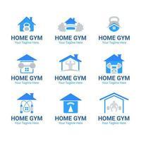 Satz von Home Gym Logo vektor