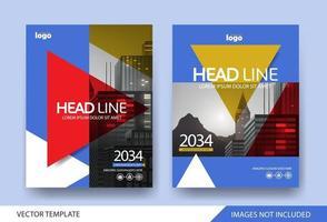 Designvorlage für Unternehmensbuchumschläge vektor