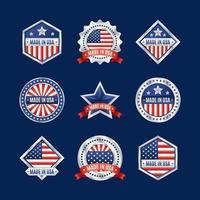 Made in USA Logo mit silbernem Rahmen vektor