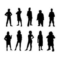 Menschen Silhouette regelmäßige Pose vektor