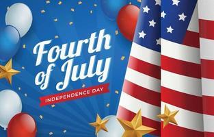 Glücklicher vierter Juli USA Unabhängigkeitstag vektor