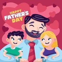 Familie feiert Vatertag vektor