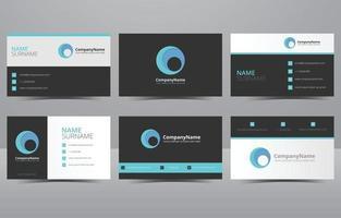 modern kreativ och ren blå visitkortsmall vektor