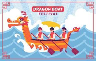 Drachenboot Festival Konzept vektor