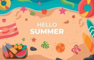 Sommer Strand Element Hintergrund vektor
