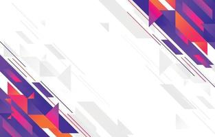 abstrakter geometrischer flacher Designhintergrund vektor