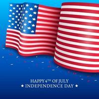 4 juli amerikansk flaggabakgrund vektor