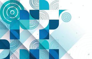 blaugrüner futuristischer abstrakter Techno-Hintergrund vektor