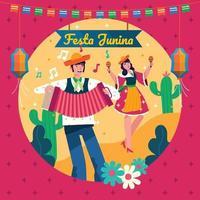 Feier Hintergrund für festa junina vektor
