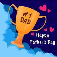 glücklicher Vatertagshintergrund vektor