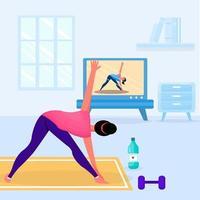Fitnessstudio zu Hause illustation vektor