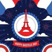 Happy Bastille Day Hintergrundkonzept vektor