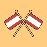 Österreich Flaggenikonenillustration vektor