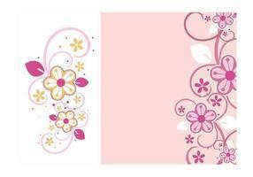 Blommigt virvlar runt vektorgrafik