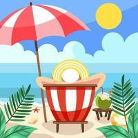 Genießen Sie Sommeraktivitäten am Strand vektor
