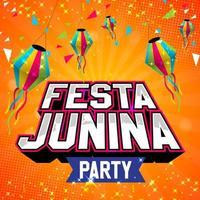 festa junina party poster design vektor