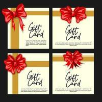 Geschenkkarte Design-Vorlage vektor